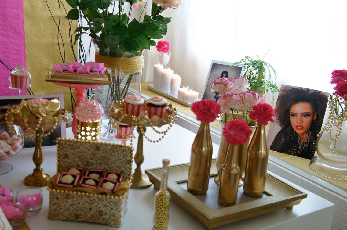 Festa pink e rosa, festinha 21 anos.