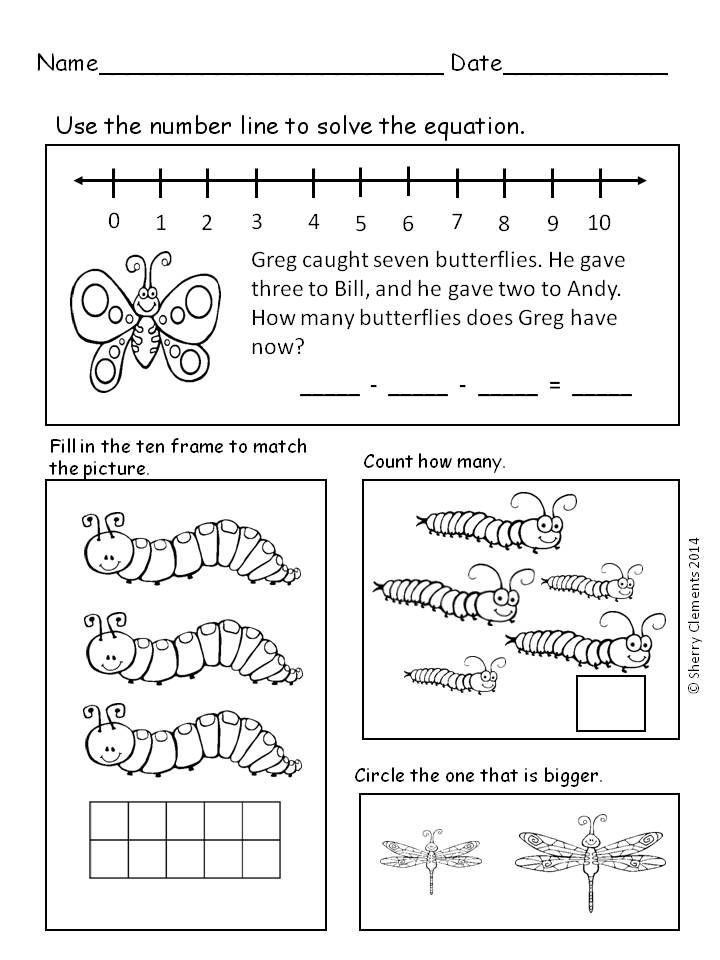 Insects and Spiders   first grade math   Pinterest   Kind
