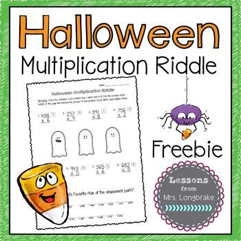 Your students will have a ghostly good time practicing 3x1 ...
