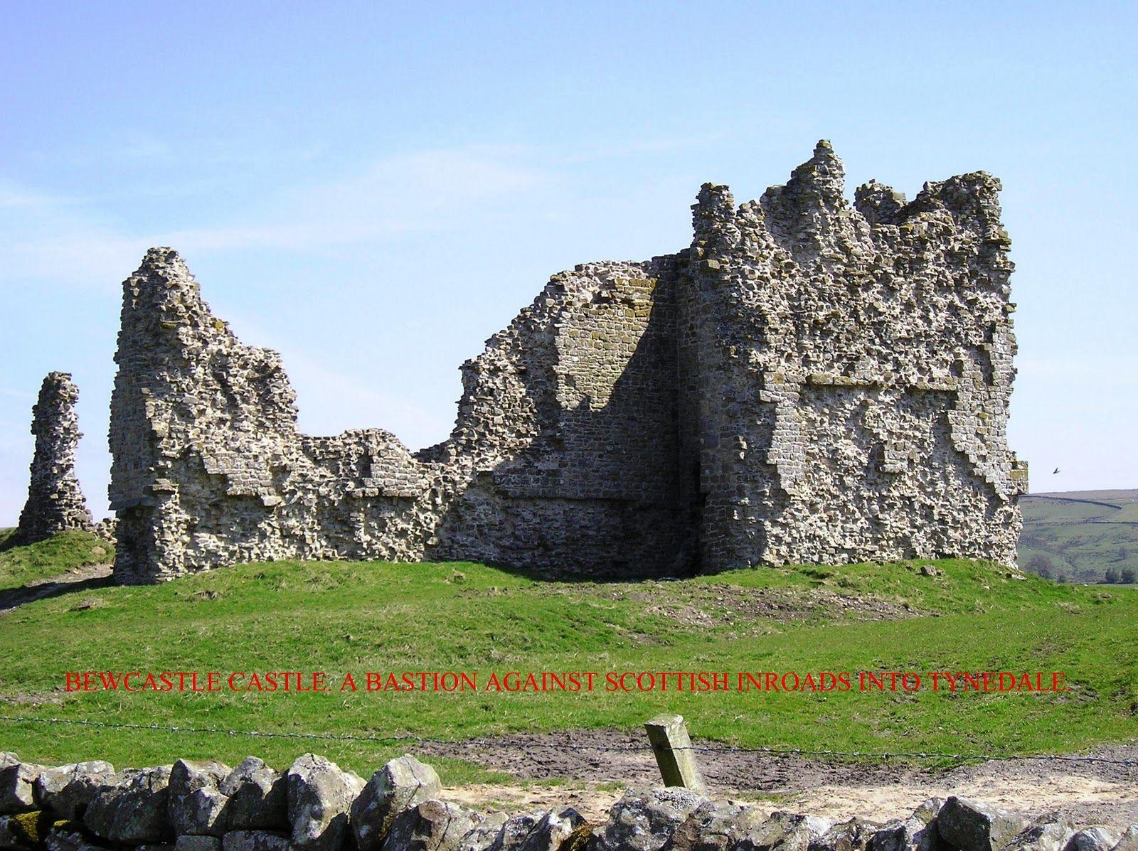 Bewcastle Castle was garrisoned against the Border Reivers