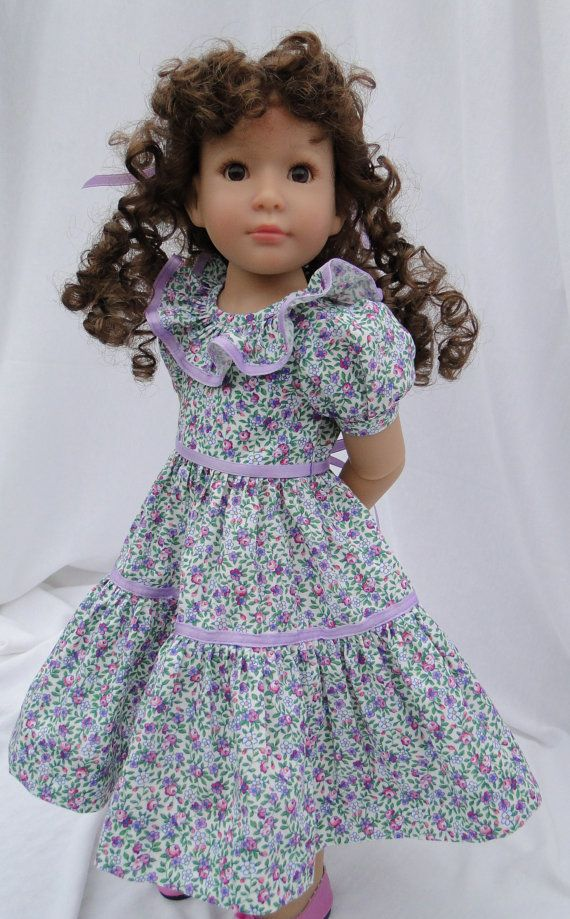 Ruffled dress for Kidz N Cats doll by dancingwithneedles on Etsy