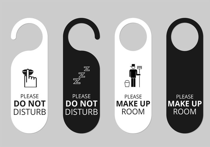 Hotel Door Hanger Tags Vector Set Door Hanger Template Pinterest - Hotel door hanger template