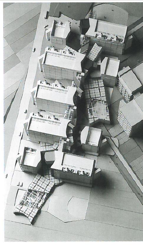 Peter Eisenman - Projekt til biocenter ved Universitetet i Frankfurt. Fik Særlig omtale i konkurrencen i 1987