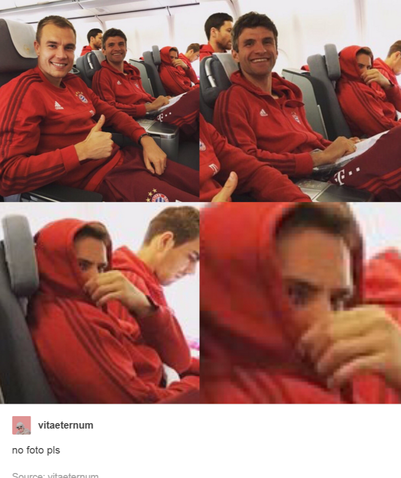 When you're done with everyone and their photos, but you also know that no photo is complete without you, haha. Bayern Munich.