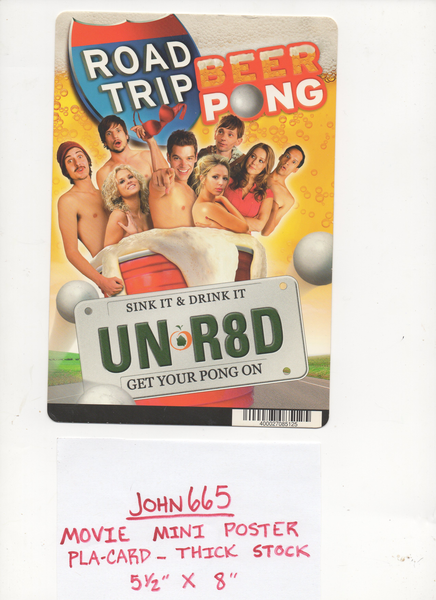 Beer Pong Road Trip Movie Mini Poster Pla Card 5 1 2 X 8 Not A Dvd Road Trip Movie Cards Road Trip