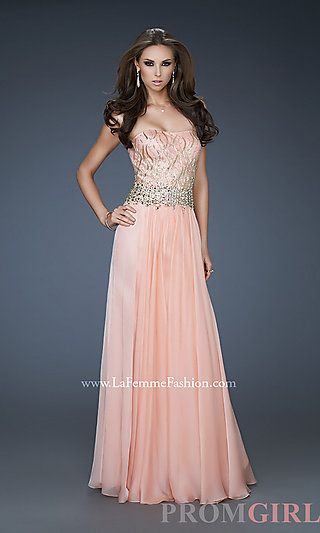 Elegant Strapless Formal Gown at PromGirl.com