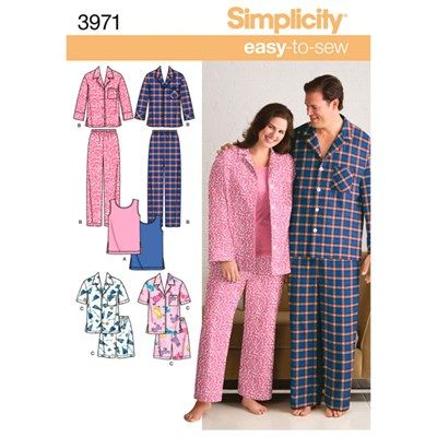 2931f05417 Buy Simplicity Pattern Unisex Plus Size Pyjamas and Knit Tank Top from  CreateAndCraft.tv