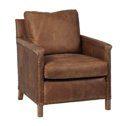Neptune Caspar Leather Armchair | Armchairs | Armchair ...