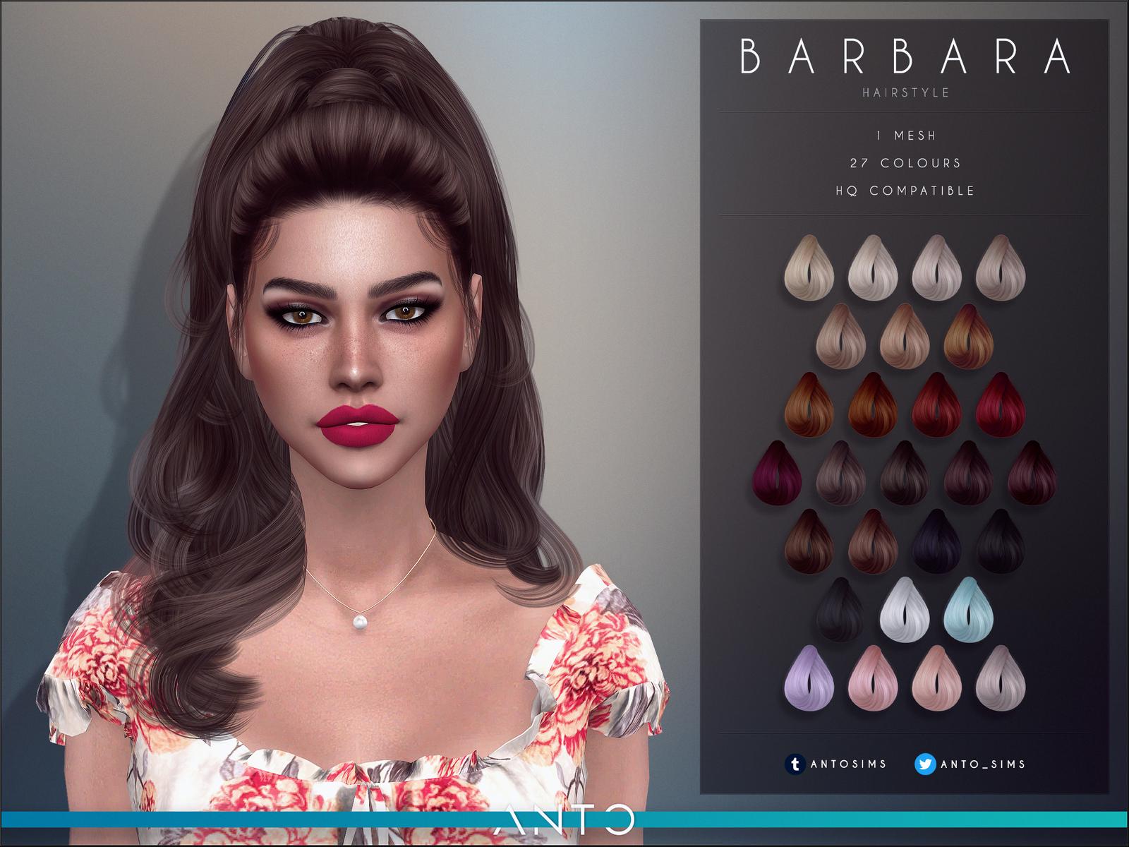 Barbara Hairstyle   Sims 4, The sims 4 cabelos e Sims