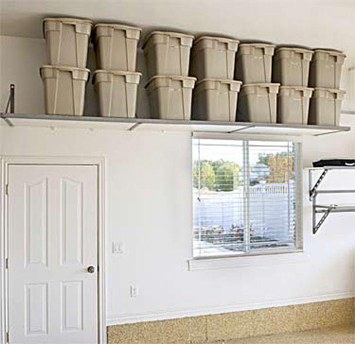 Cabinet U0026 Shelving : Garage Shelving Ideas With Window Iron Garage Shelving  Ideas: Best Way To Organize Your Stuff Garage Storage Solutionsu201a Storage  Garageu201a ...