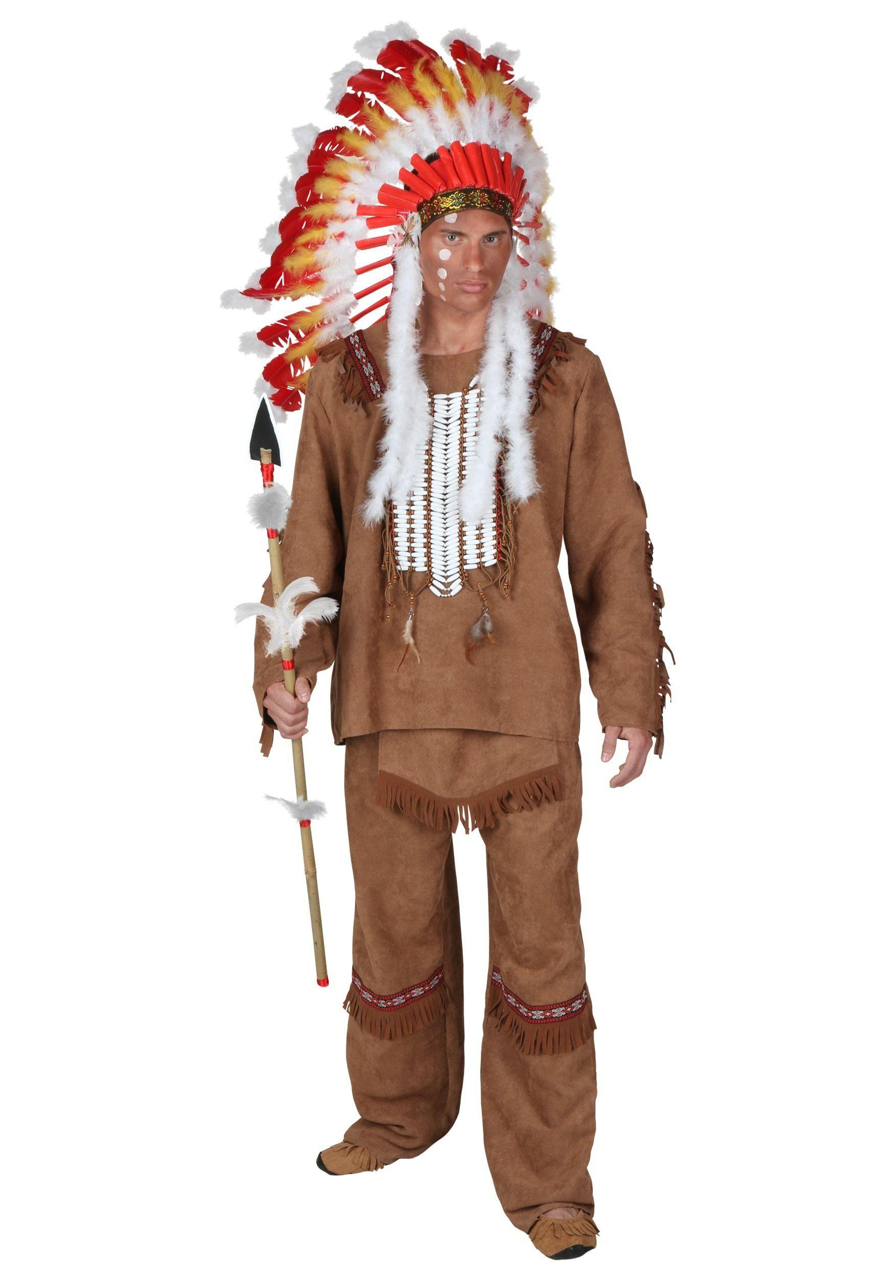 Deluxe Men's Indian Costume Men Halloween Costumes