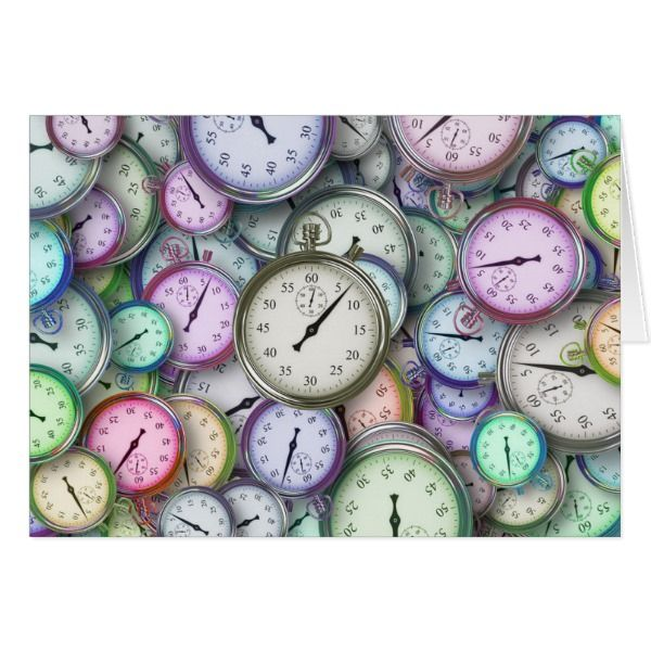 Colorful Stopwatch Time Management Abstract