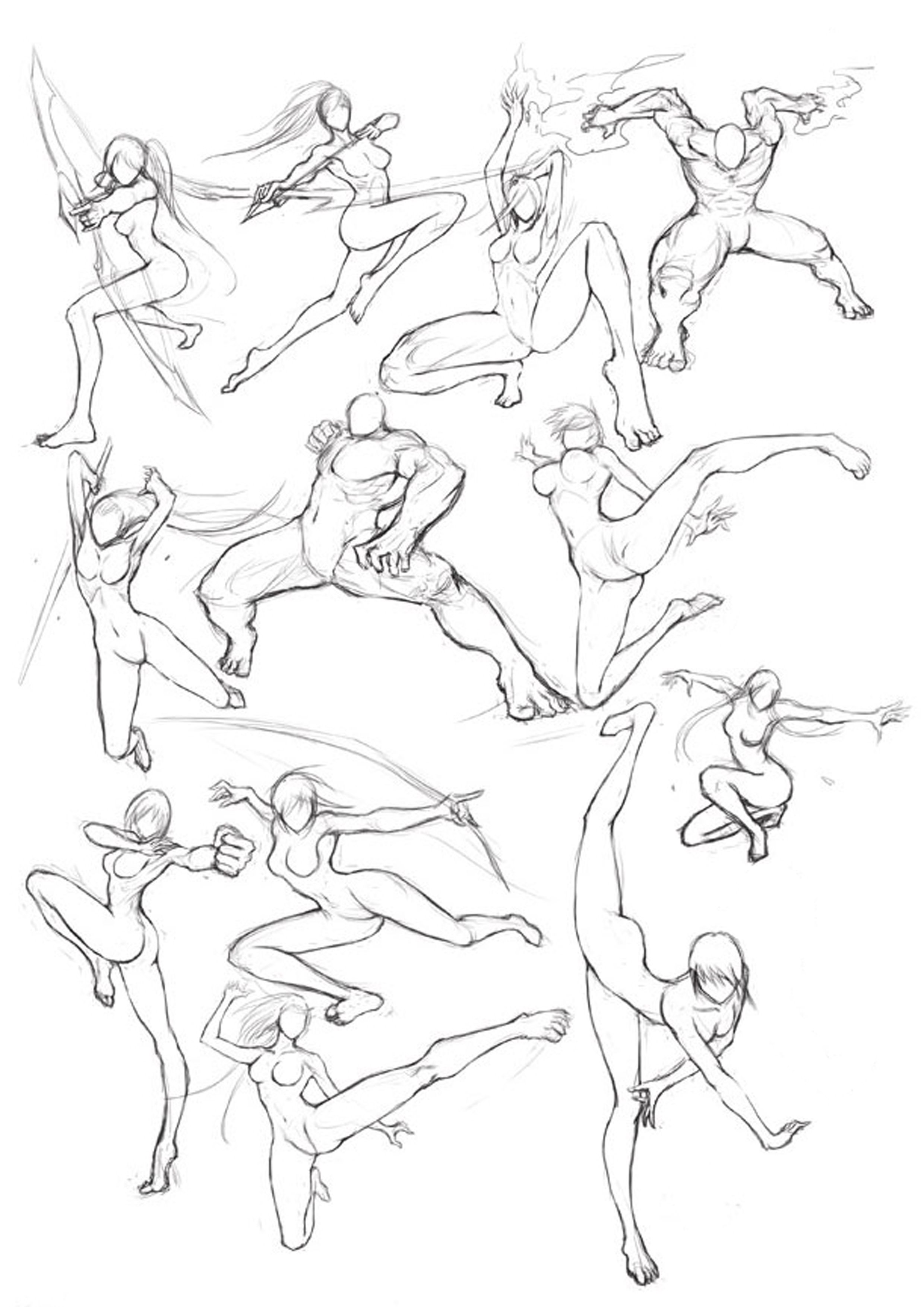 Martial Arts Posture Art Reference Poses Drawing Poses