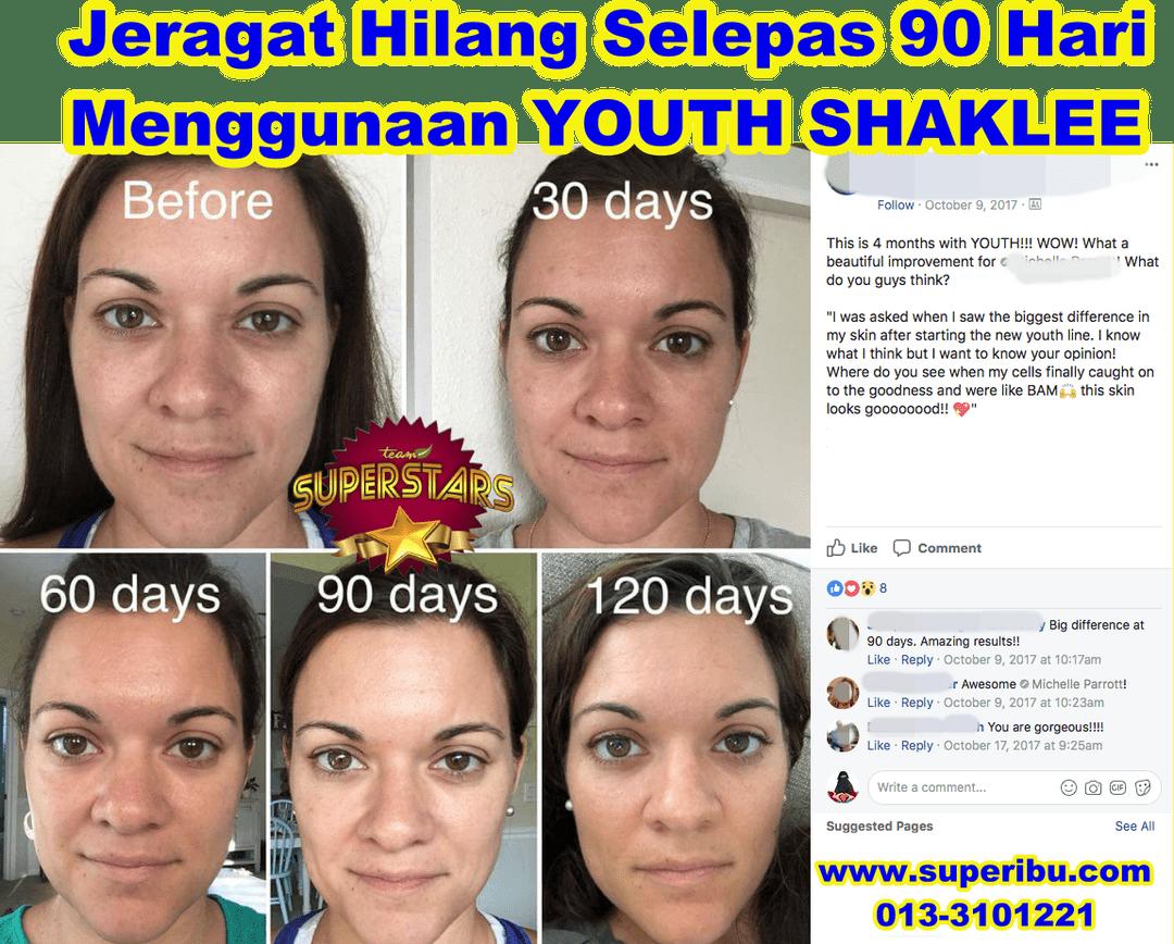 9 Set Youth SkinCare Shaklee Untuk Jeragat, Jerawat, Kulit