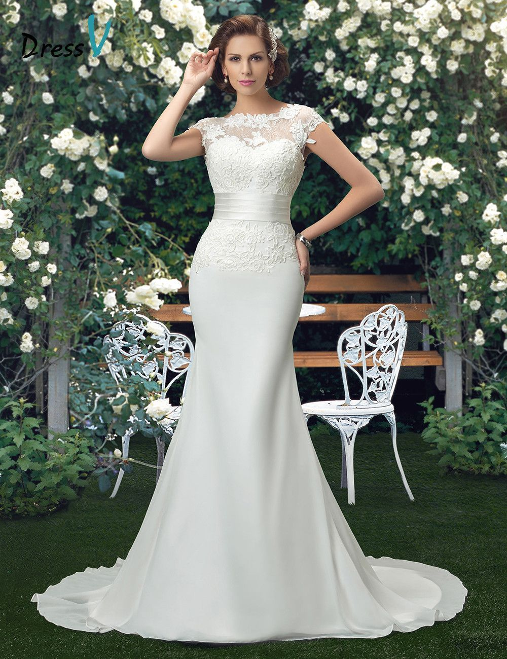 Item Type  Wedding Dresses Waistline  Natural is customized  Yes Brand  Name  Dressv Dresses 1f81be76f4b0