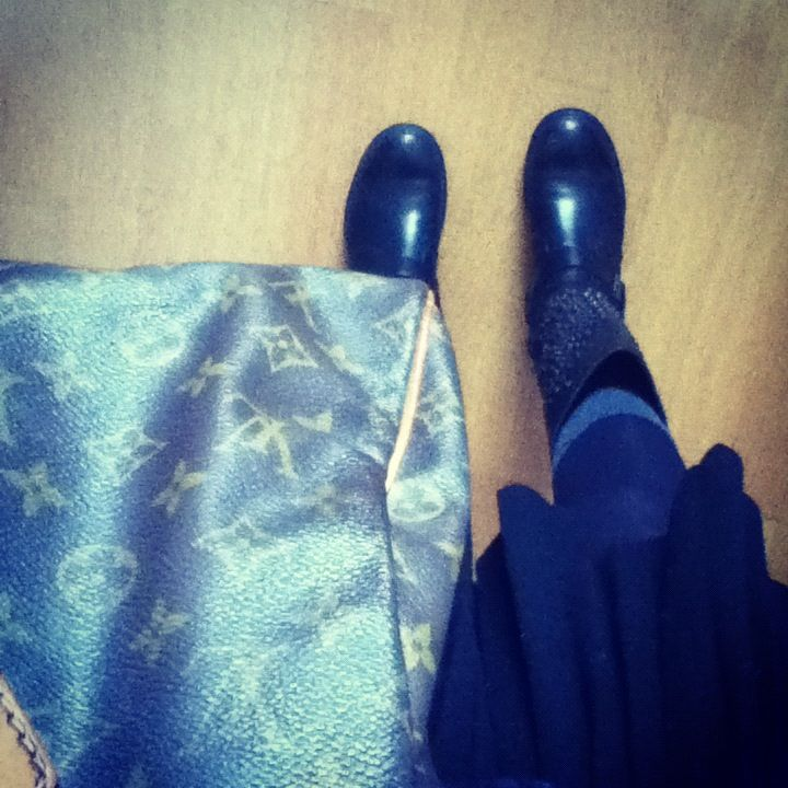 Ash butterfly boots Louis Vuitton bag Black sandro skirt