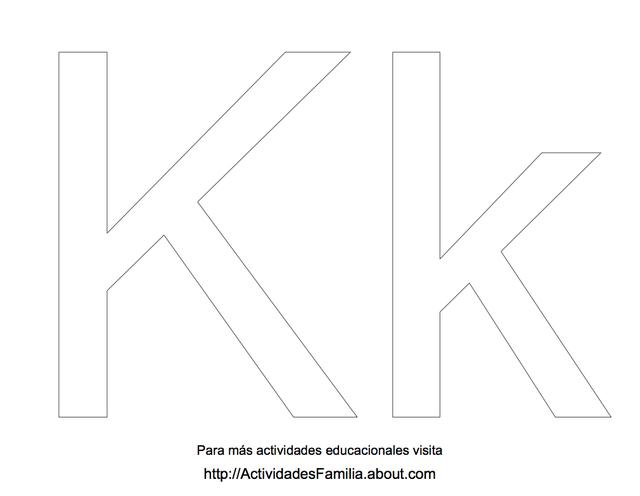 Abecedario para colorear: Letra K para colorear   teach   Pinterest
