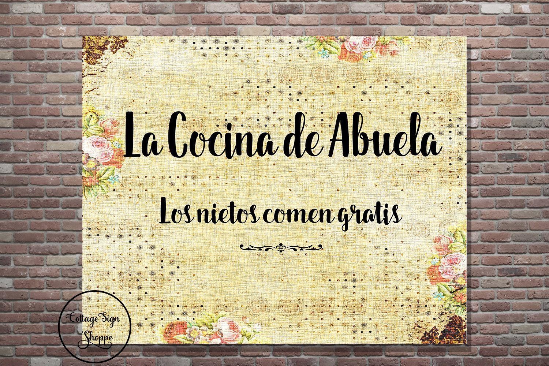 La Cocina de Abuela, La Cocina Wall Art, DIGITAL YOU PRINT, Spanish ...
