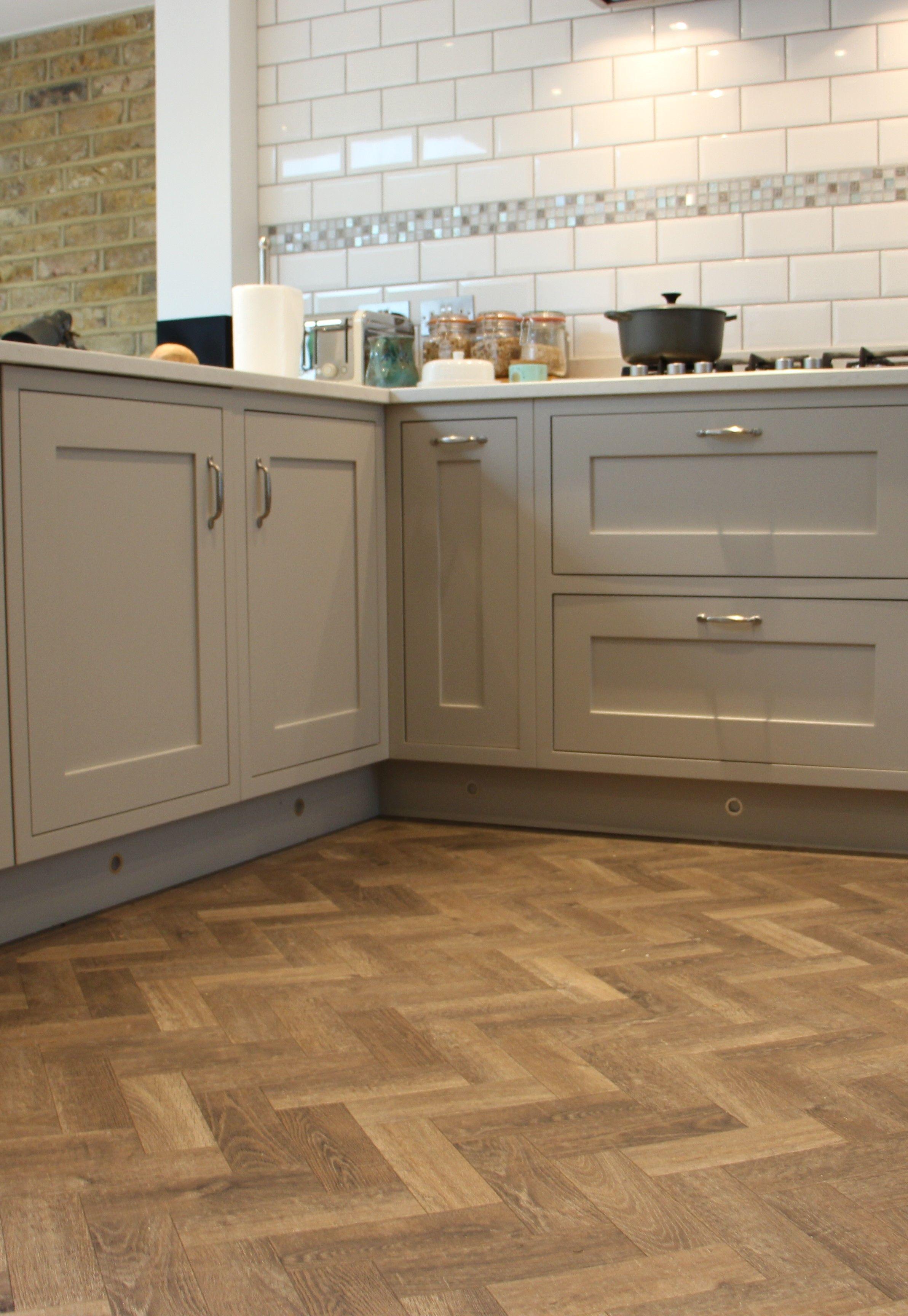 Grey Painted Shaker Kitchen Wood Floor Kitchen Herringbone Wood Floor Grey Shaker Kitchen
