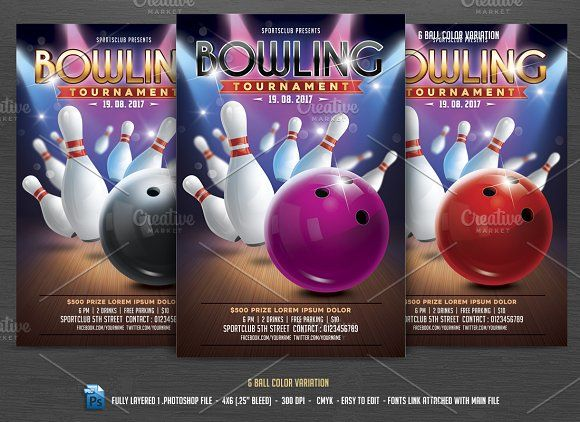 Bowling Tournament Flyer Flyer template - bowling flyer template