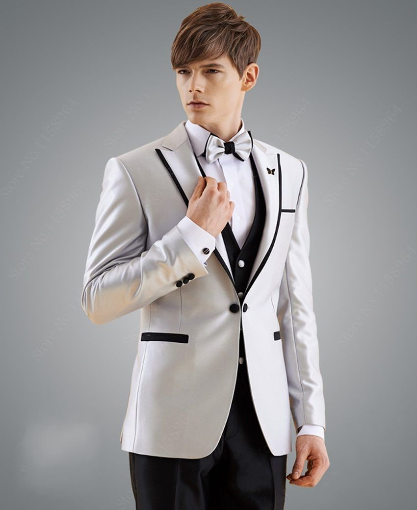 High Quality Men\'s Dinner Party Prom Suits Groom Tuxedos Groomsmen ...