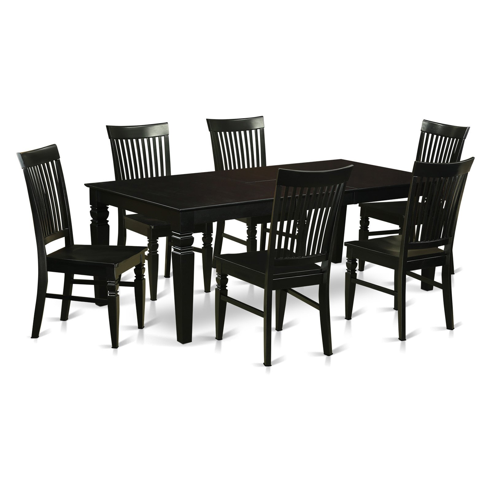 Awe Inspiring East West Furniture Logan 7 Piece Thin Slat Dining Table Set Gmtry Best Dining Table And Chair Ideas Images Gmtryco