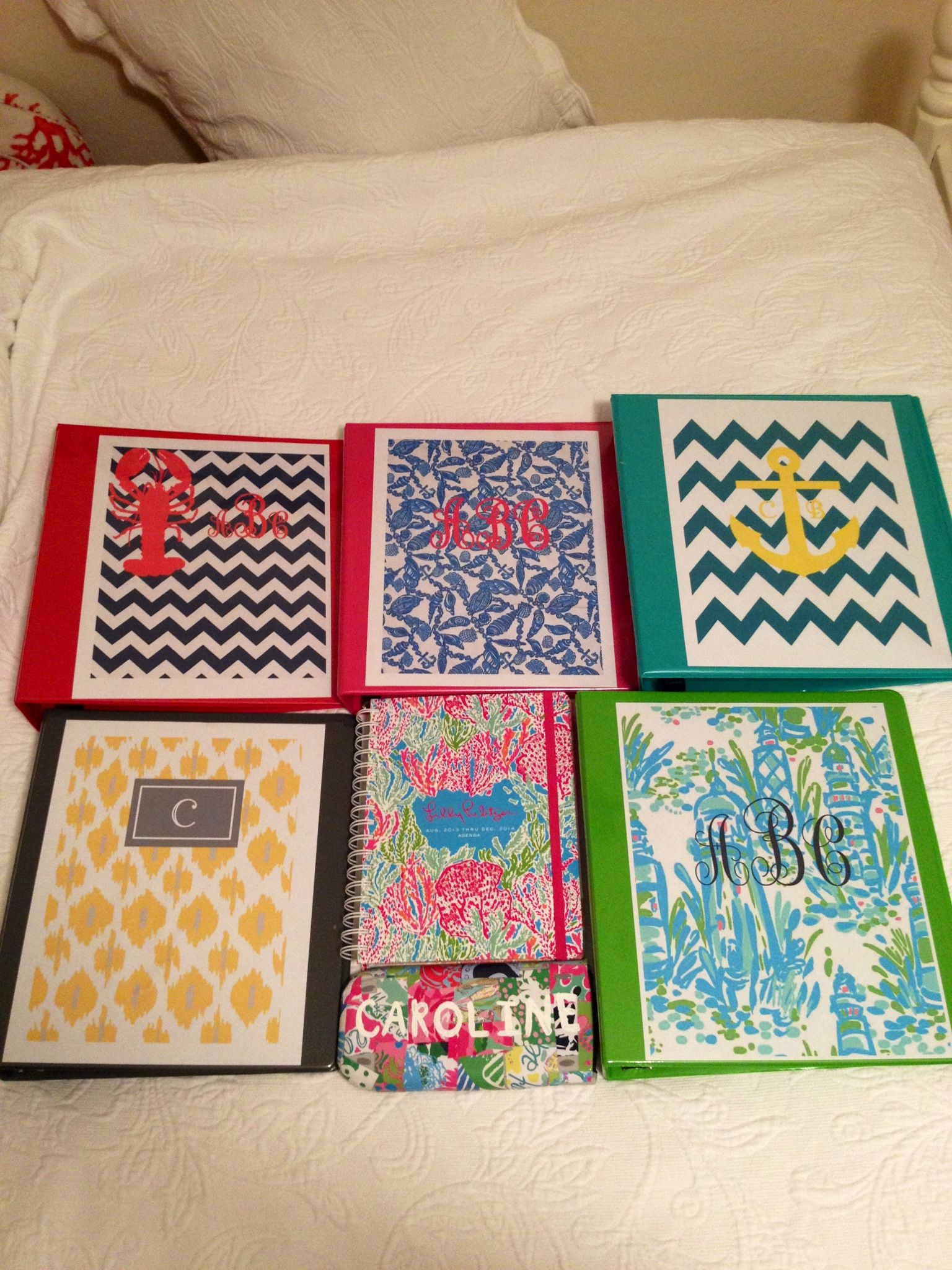 DIY Lilly calculator and binder covers Get crafty