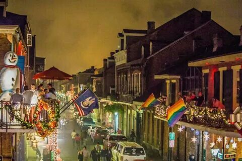 Bourbon Street Christmas by Roy Guste