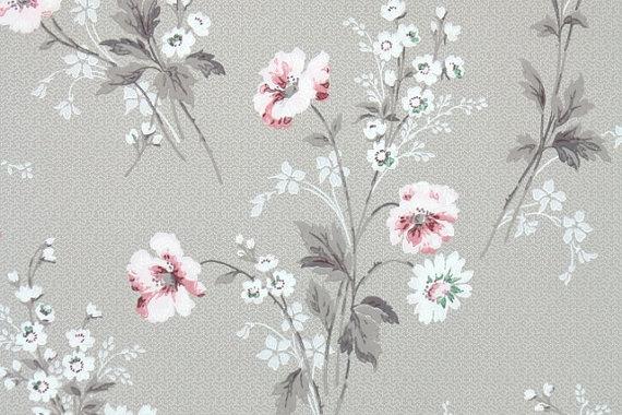 Floral Vintage Wallpaper Flores Sobres De Papel Estampado