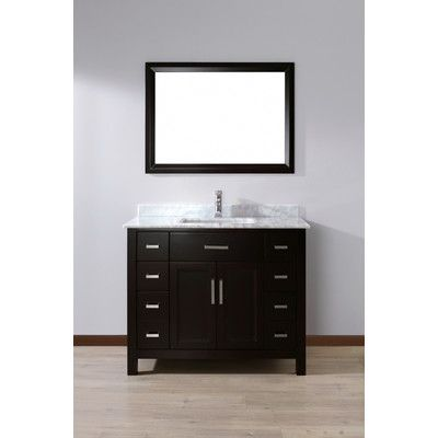 "Bauhaus Bath Celize 42"" Single Bathroom Vanity Set With Mirror Stunning Bathroom Cabinet Reviews Design Inspiration"