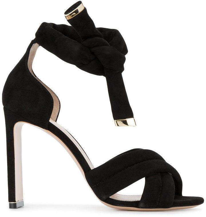 a1be9369a09b Nicholas Kirkwood Black Ziggy 105 Suede sandals Black Strappy Shoes