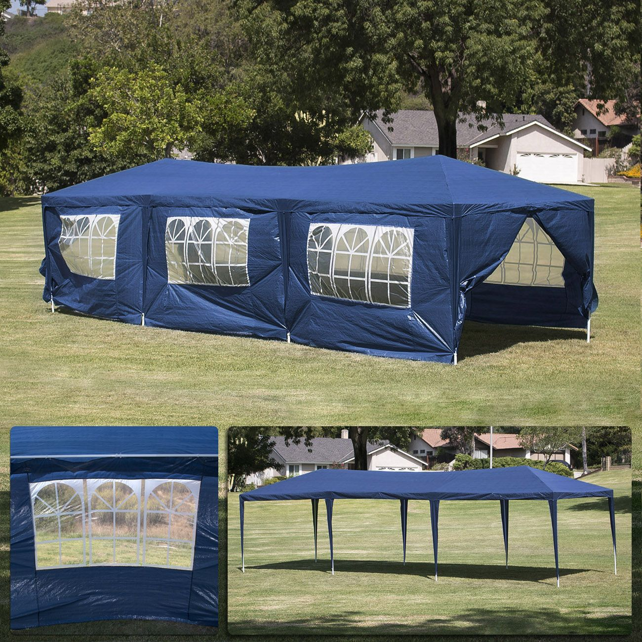 rectangular camping tent with transparent roof