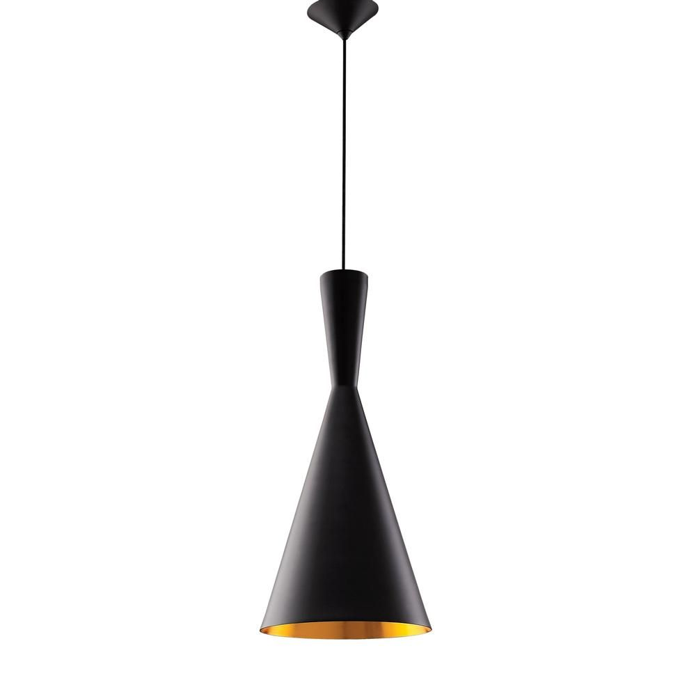 Black Gold Cone Pendant Lamp