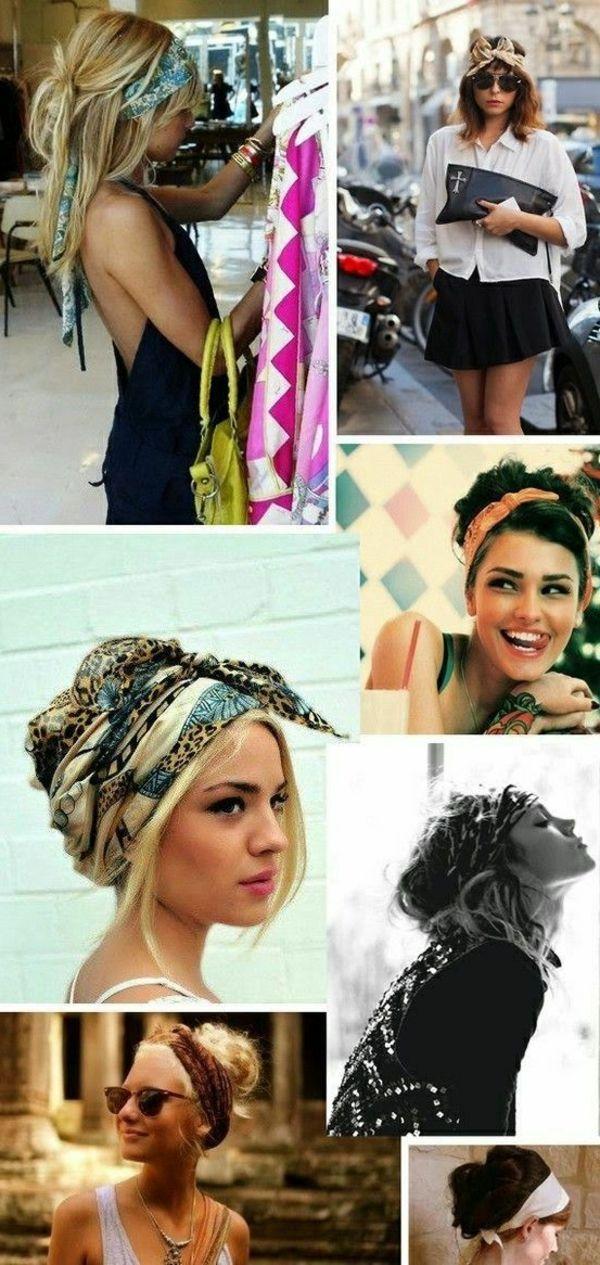 Des tenues et coiffures qui crient boheme chic Coiffure Femme 2017,  Coiffure Avec Foulard, 93aa3deb72f