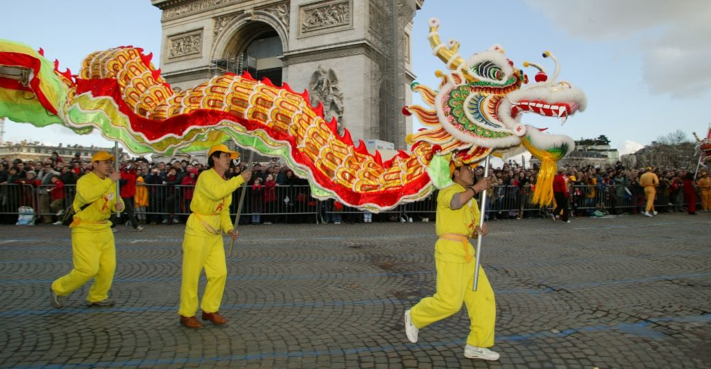 lion dance, Paris, France, Chinese new year, Chinese new