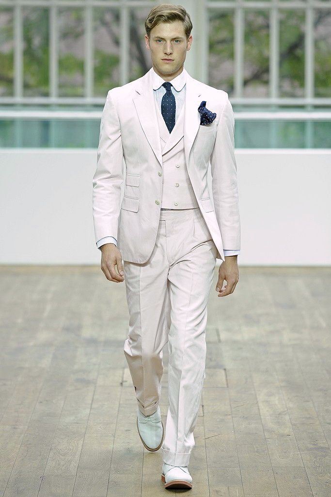 Hackett-Three-Piece-Suit-with-Double-Breasted-Waistcoat-in-White ...