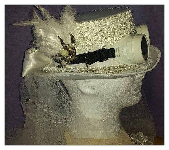 STEAMPUNK Burlesque costume  Bridal Top hat  by starsjewelbox