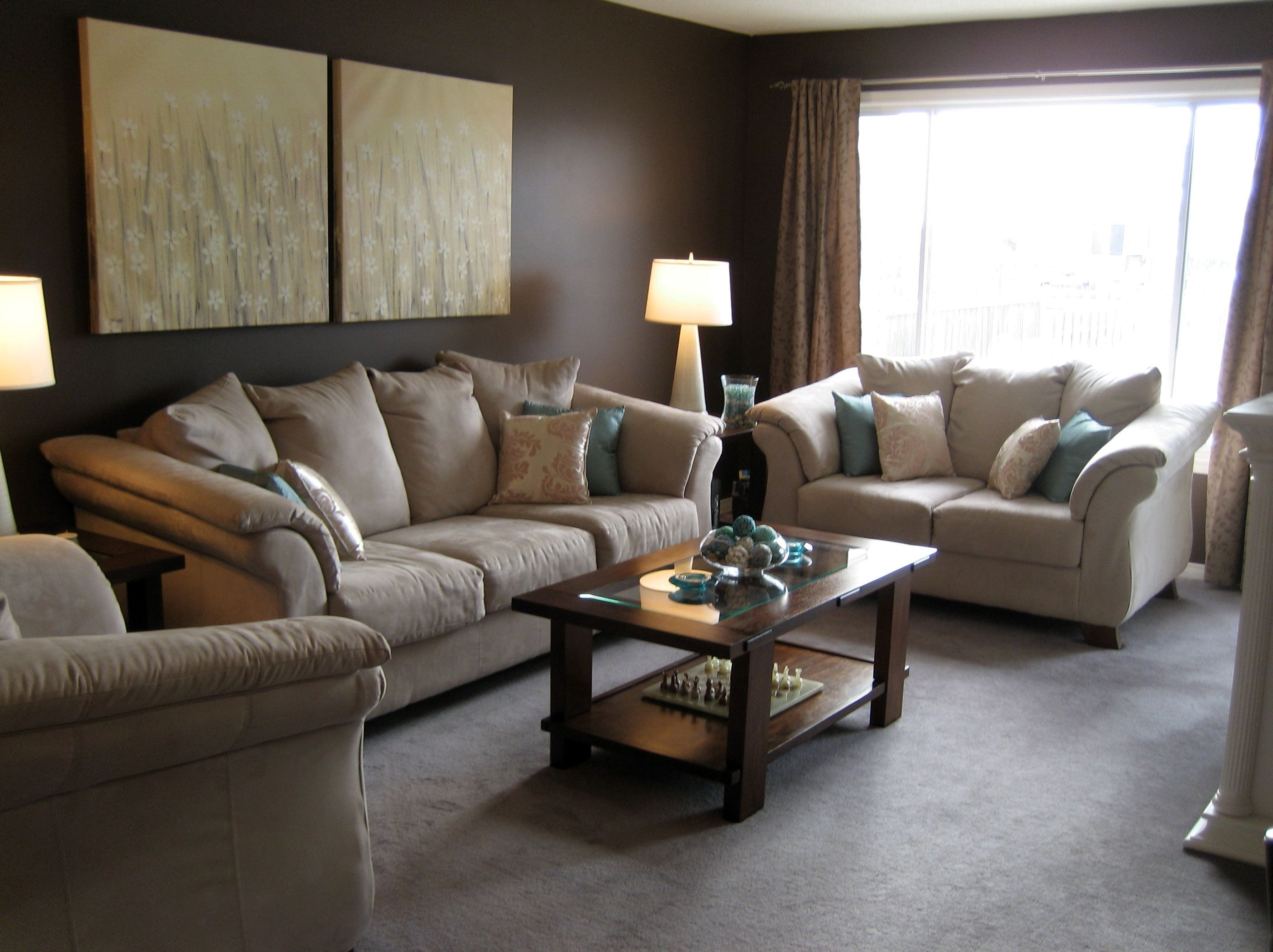 Wall Colors For Living Room With Beige Furniture | Brown ...