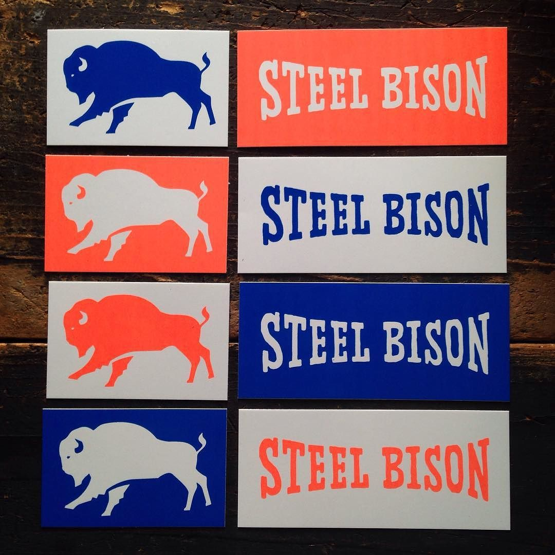 FREE WITH PURCHASE  Adding some of these new stickers to orders for free (while supplies last). Link in profile.  #SteelBison #FluorescentOrange by samlarson