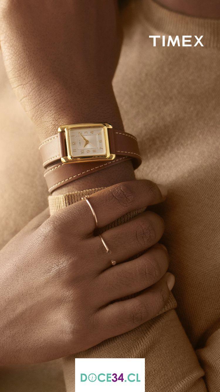 a38119390655 La Mujer Moderna siempre queda impecable con un Reloj simple… El Timex⌚️TW2R89900  es