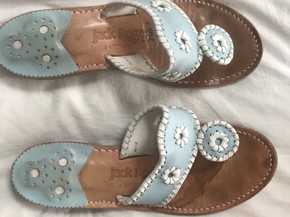 3ad86f4084fe Jack Rogers Women 8 M Light Blue Leather Navajo Sandals Palm Beach VGUC   fashion  clothing  shoes  accessories  womensshoes  sandals (ebay link)