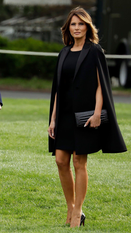 52362cff3b2b Melania Trump and Brigitte Macron Both Wore French Designers on Eve ...