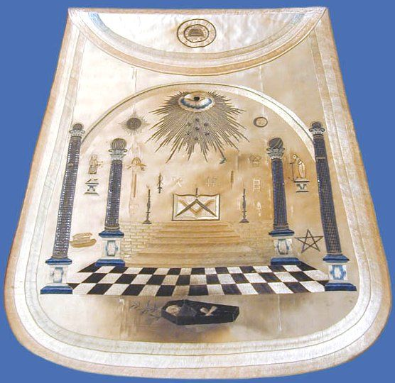 Old School Masonic Apron I Like That They Kept Them Decorated