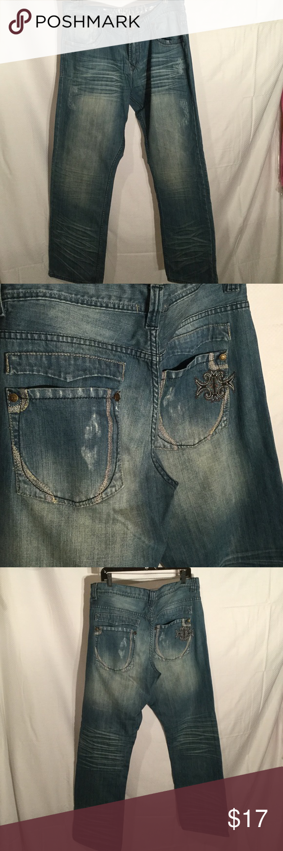 Hybrid & co denim jenas 36x32 Hybrid and co blue denim jeans 36x32 and in perfect condition never worn hybrid & co Jeans Relaxed