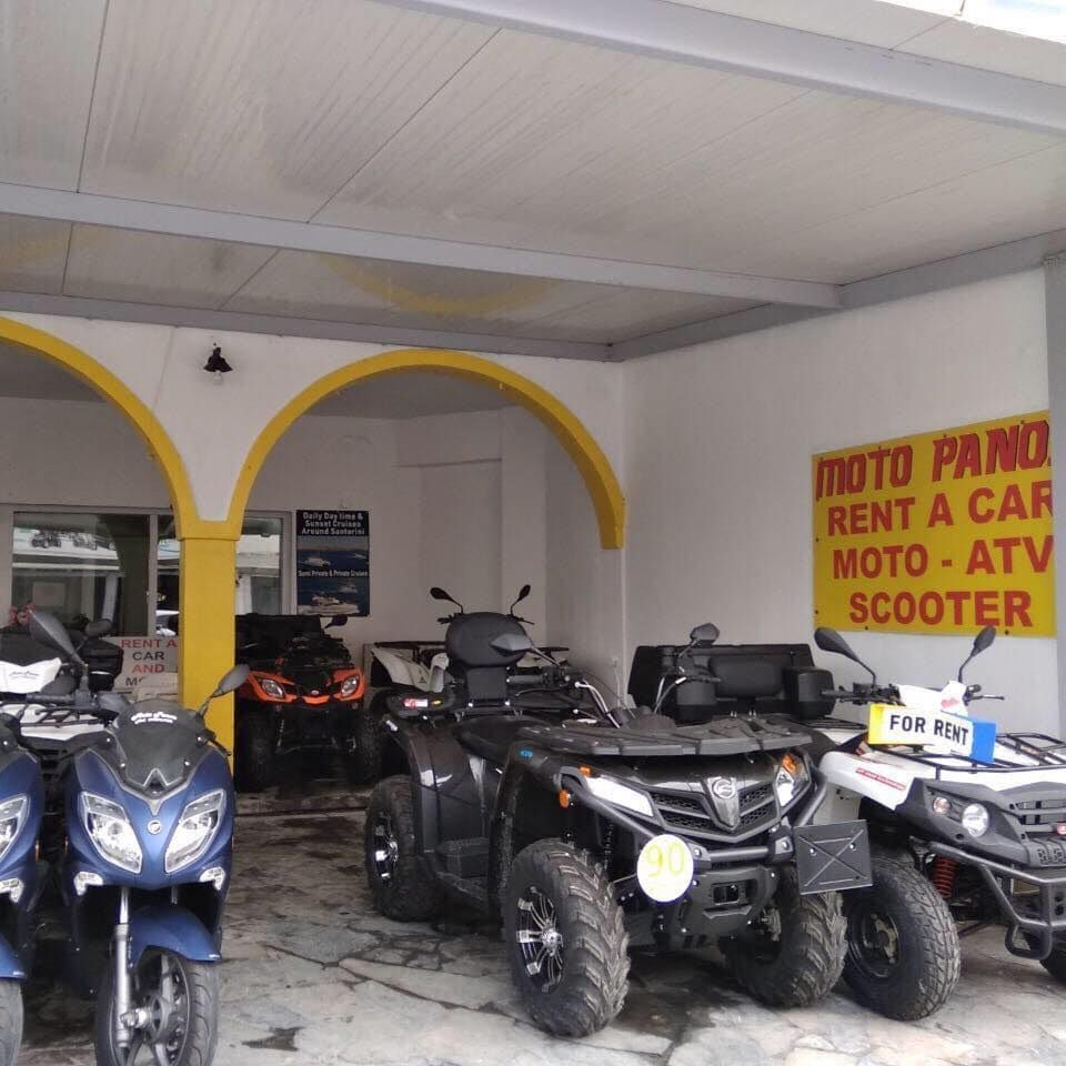 Moto Panos Rent A Car ATV Quad Motorbike office Santorini
