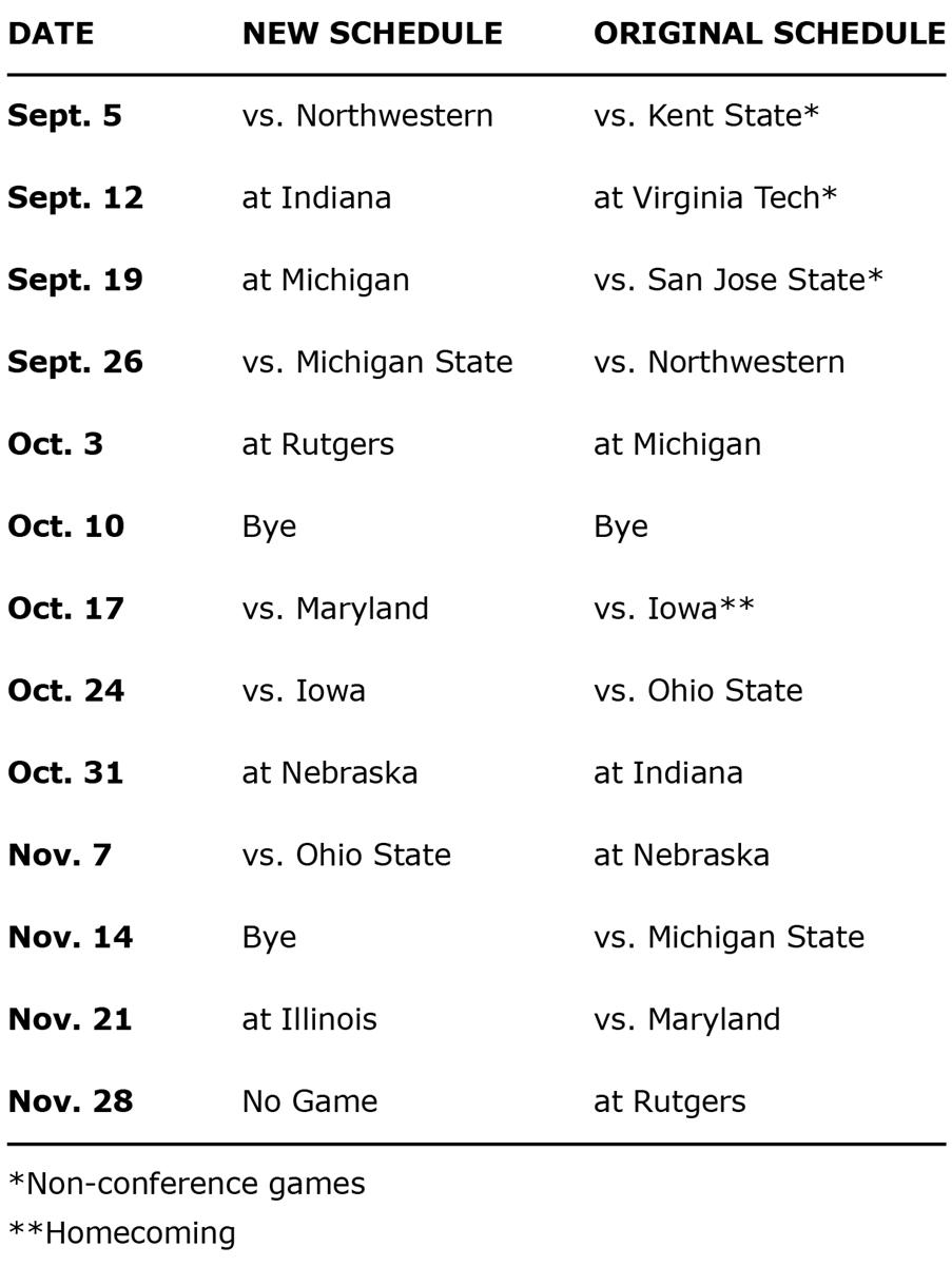 Penn State footballs revised 2020 schedule is released in