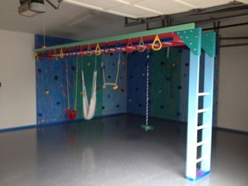 Custom garage gym kids play kids gym equipment garage