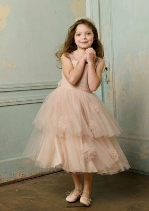 pretty pale pink flower girl dress flower girls and page
