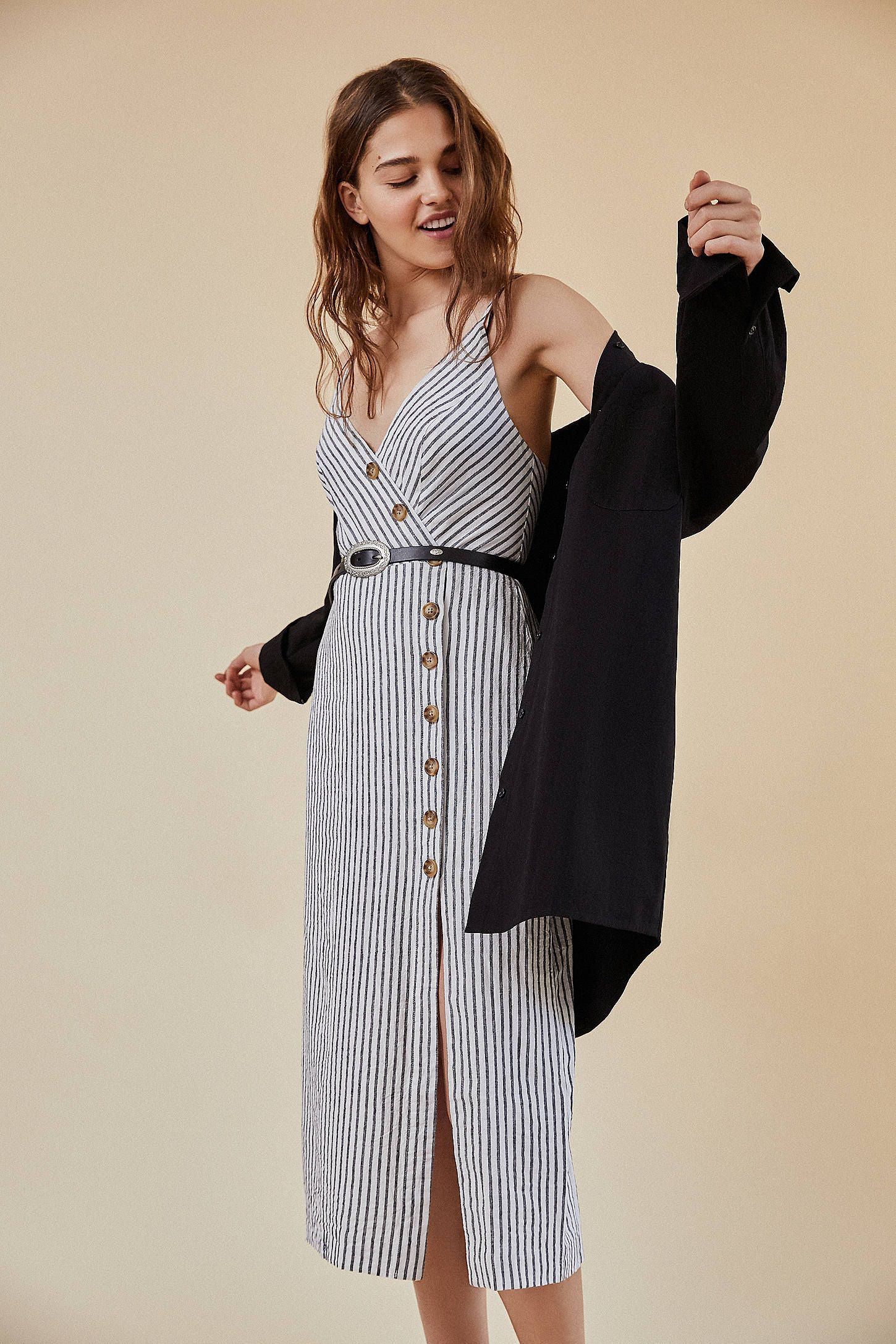 1a6a379c003 Shop UO Amber Button-Down Linen Midi Dress at Urban Outfitters today. We  carry all the latest styles