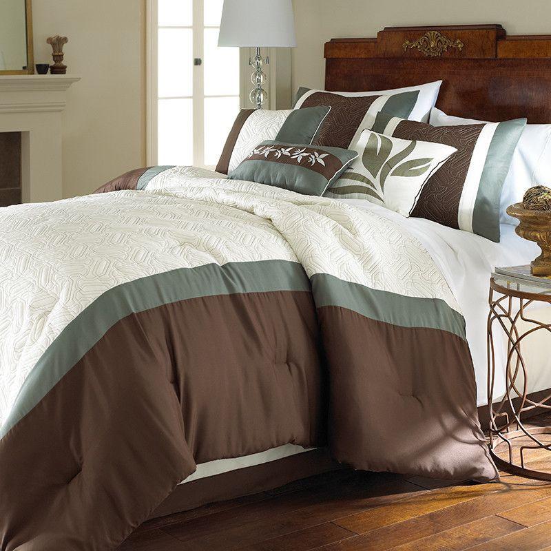 Crestwood - Pacific Coast 8 Piece Embellished Comforter Set